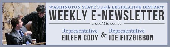 Weekly E-Newsletter from 34th Legislative District Representatives Eileen Cody and Joe Fitzgibbon