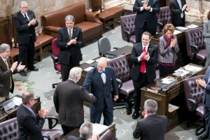 Rep. Jim Moeller on floor after election to Speaker Pro Tempore