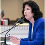 Rep. Christine Kilduff (D-University Place) testifying in the Public Safety Committee in support of legislation to stop the dumping of sex offenders in Pierce County.