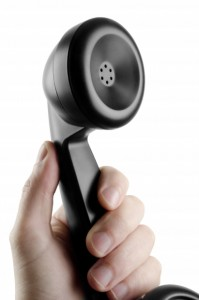 image of telephone receiver in hand