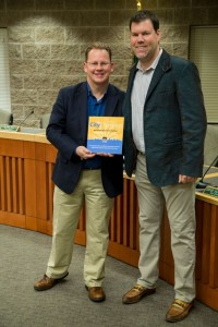 Rep. Chris Reykdal is honored with the AWC City Champion Award