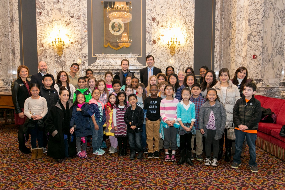 As a schoolteacher myself, I'm always happy to be visited by students who are learning about how their government works. These smiling faces are from Renton's Talbot Hill Elementary. My seatmate, Rep. Zack Hudgins, is at left, standing with our colleague from the neighboring 33rd district, Rep. Mia Gregerson.