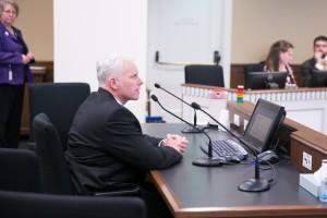 Rep. Van De Wege testifying in committee