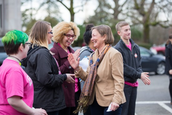 Rep. Robinson meeting with Planned Parenthood members who came to Olympia to advocate on HB 2465