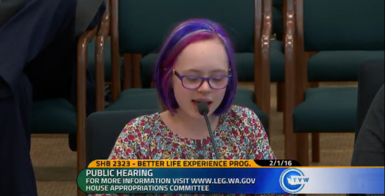 ABLE Act - Emma testifying