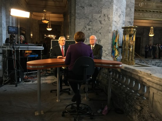 Appearing on TVW to talk about session and the state's construction budget.