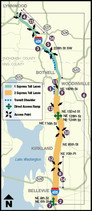WSDOT 405 map