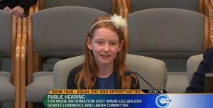 My daughter testifies about gender pay equality