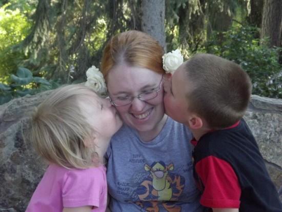 Sheena Henderson with children