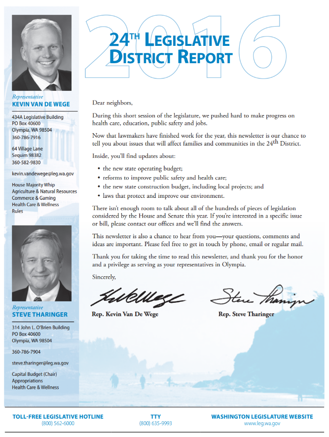 24th District report on the 2016 session