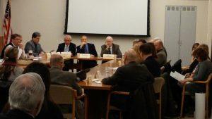 A meeting senators and representatives who belong to the bipartisan Heritage Caucus.