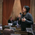 Rep. Lillian Ortiz-Self discussing legislation on the House Floor