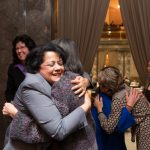 Rep. Lillian Ortiz-Self celebrates with Rep. Sharon Tomiko Santos the passage of HB 1541, Closing the Opportunity Gap.