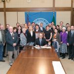 Rep. Tina Orwall at the Bill Signing ceremony of HB 2793, Suicide Awareness, on Mar 31, 2016