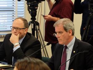 State Representative Roger Goodman and State Senator David Frockt at hearing