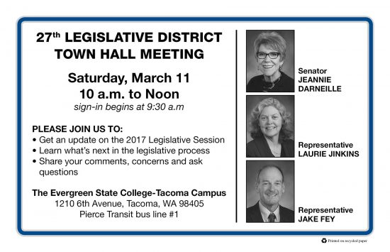 27th LD town hall annoucement