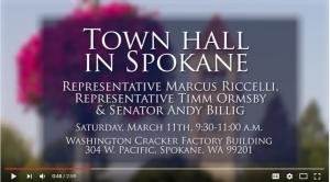 Video still of town hall video