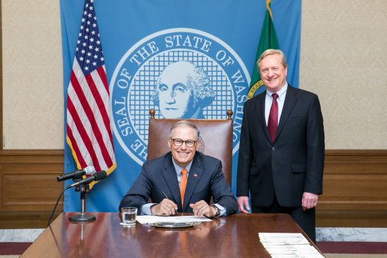 Gov. Jay Inslee signed House Bill 1520 by Rep. Steve Tharinger (D-Sequim). The legislation allows rural hospitals that are participating in a pilot to explore new, innovative approaches in healthcare services but provides them the security they need to return to their current status as a critical access hospital if the pilot doesn't work for their communities.