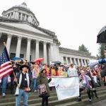 Kristine Reeves Mockingbird Society rally