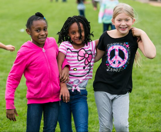 Students at recess in elementary