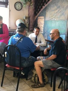Rep. Riccelli with constituents at mobile office