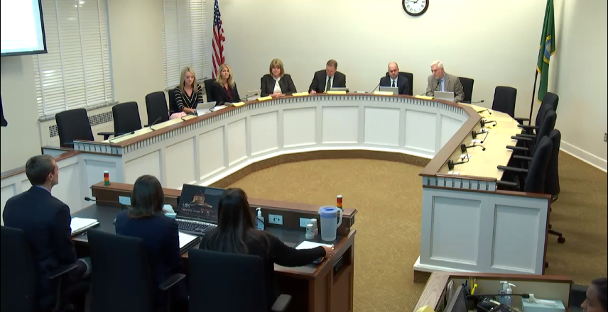 Lawmakers on the House Higher Education Committee listen to testimony in support of legislation Rep. Mike Chapman (D-Port Angeles) to offer free college tuition for high-demand jobs in rural counties.