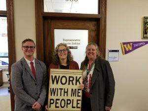 From left: Mitch Aman, Rep. Jinkins, Ann Dasch