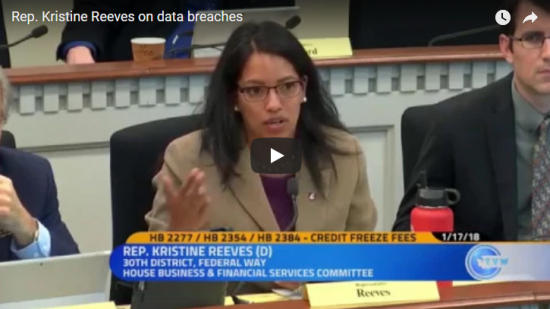 Rep. Reeves YouTube Video on Data Breaches