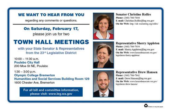 23rd LD town hall postcard
