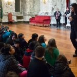 WA State Representative Kristiné Reeves visiting with Terminal Park Elementary - State Reception Room, April 6, 2017