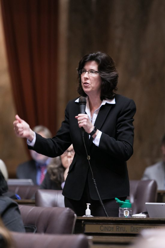 Rep. Christine Kilduff speaking on the floor - transparency