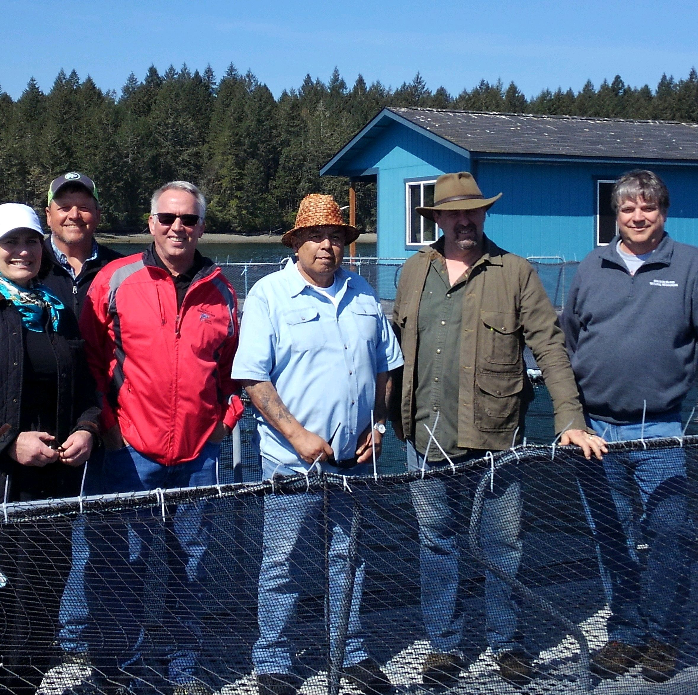 Rep. Brian Blake at the Net Pen Squaxin Island Tribe Tour on May 2, 2018.
