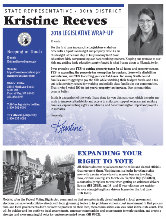 reeves 2018 end of session mailer