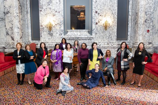 Women of Color Caucus in the State Reception Room