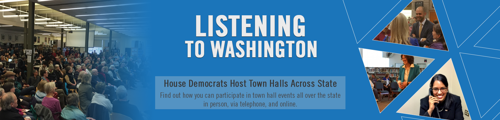 Find town halls near you