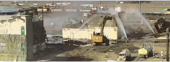 Workers demolish plutonium plant