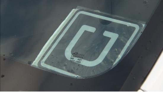 Uber sticker.