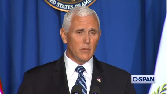 """Asked whether he supported the CDC's recommendation for social distancing of students in schools amid the COVID-19 pandemic, Vice President Mike Pence stated, """"The president said today, we just don't want the guidance to be too tough..."""" BY C-SPAN"""