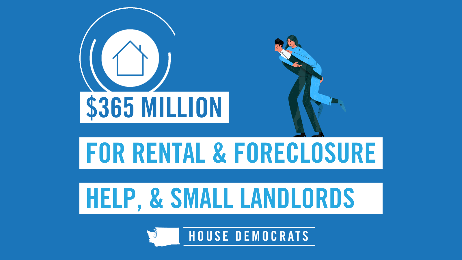 Slide that says $365 million for rental & foreclosure help & small landlords