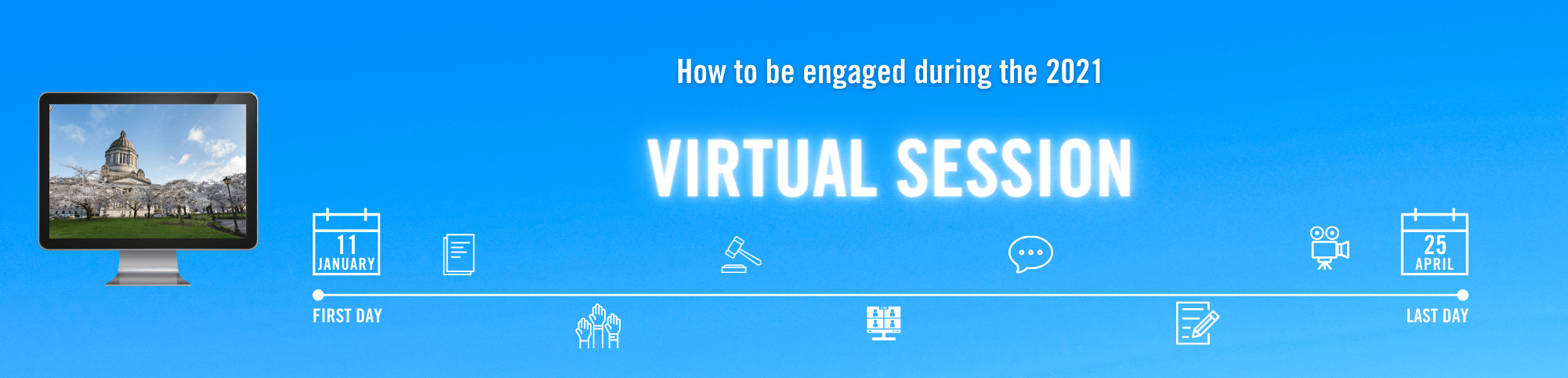 The virtual session guide webpage banner image