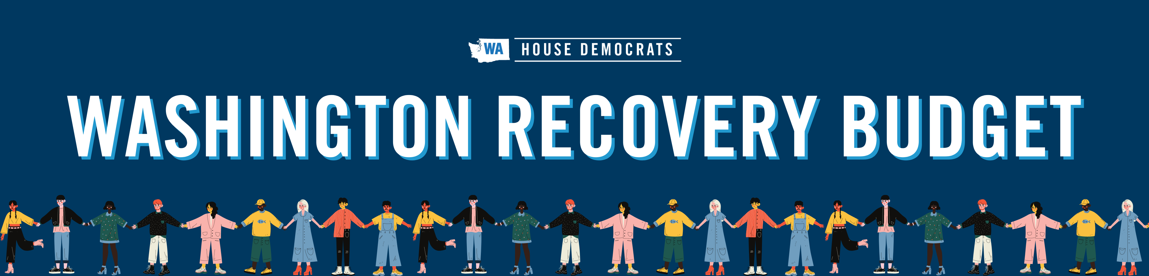 The House Democrats' Plan for Community & Economic Recovery including 2021-2023 budget webpage banner