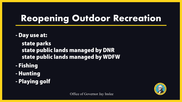 Reopening Outdoor Recreation slide