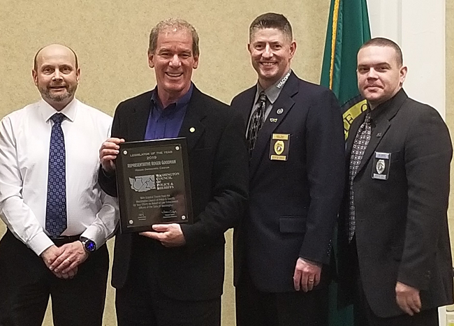 Rep. Goodman wins the Legislator of the Year Award