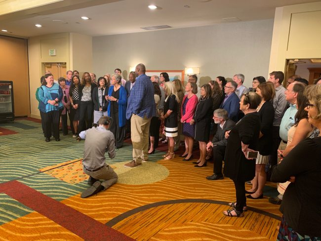Photo of July 31 House Democrats speaker election press conference