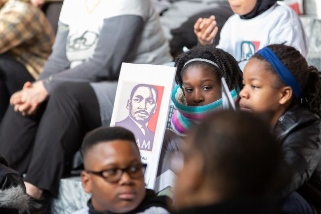Activists take part in MLK Jr. Day events in the Legislative Building