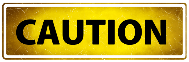 Yellow caution banner