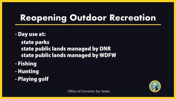 Reopening Outdoor Recreation slide
