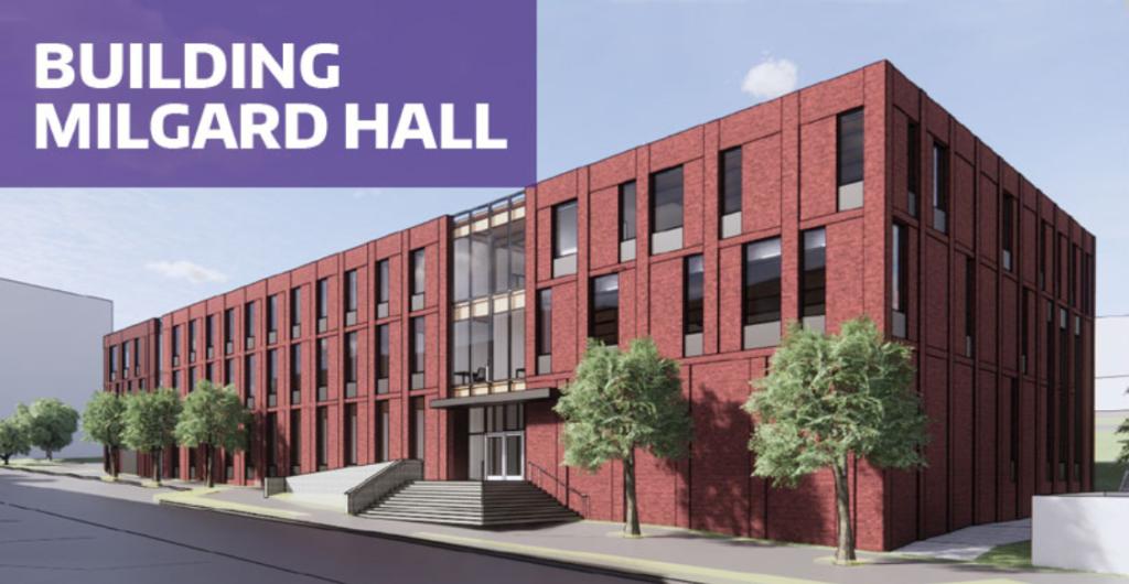 Artist rendering of UW Tacoma Milgard Hall