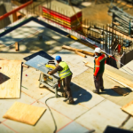 construction workers from above
