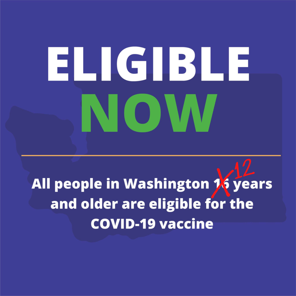 Eligible Now graphic for COVID vaccine